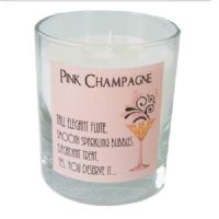 Dekassa Pink Champagne Cocktail Candle